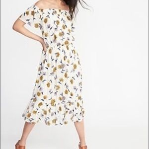 Off the shoulder floral summer dress size small